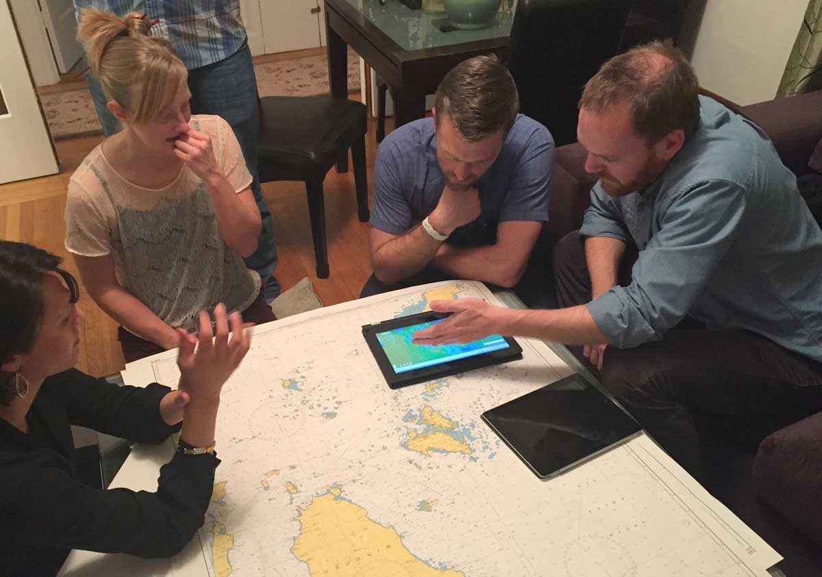 Planning sailing in the Philippines