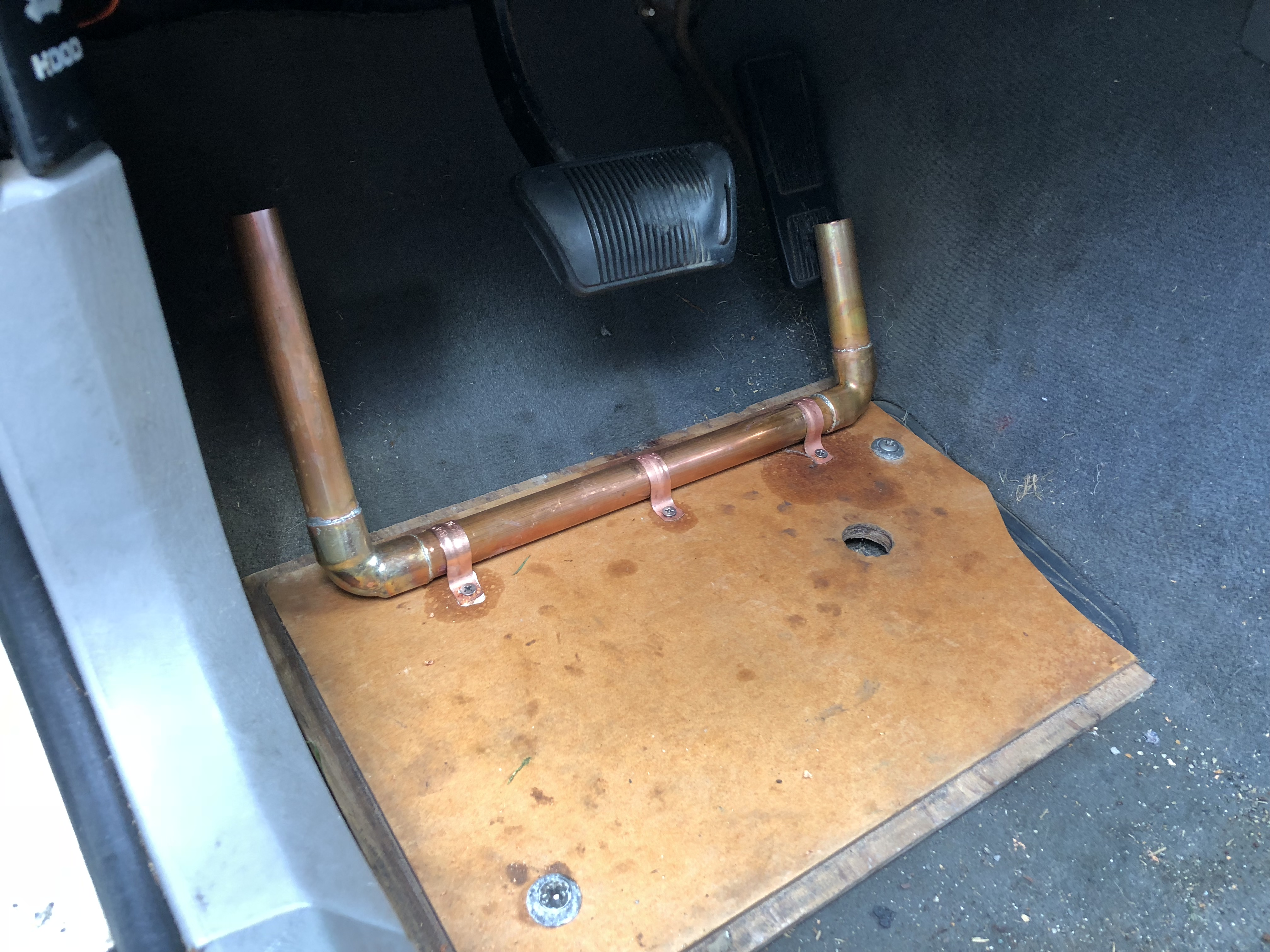 Home made left-foot accelerator modification