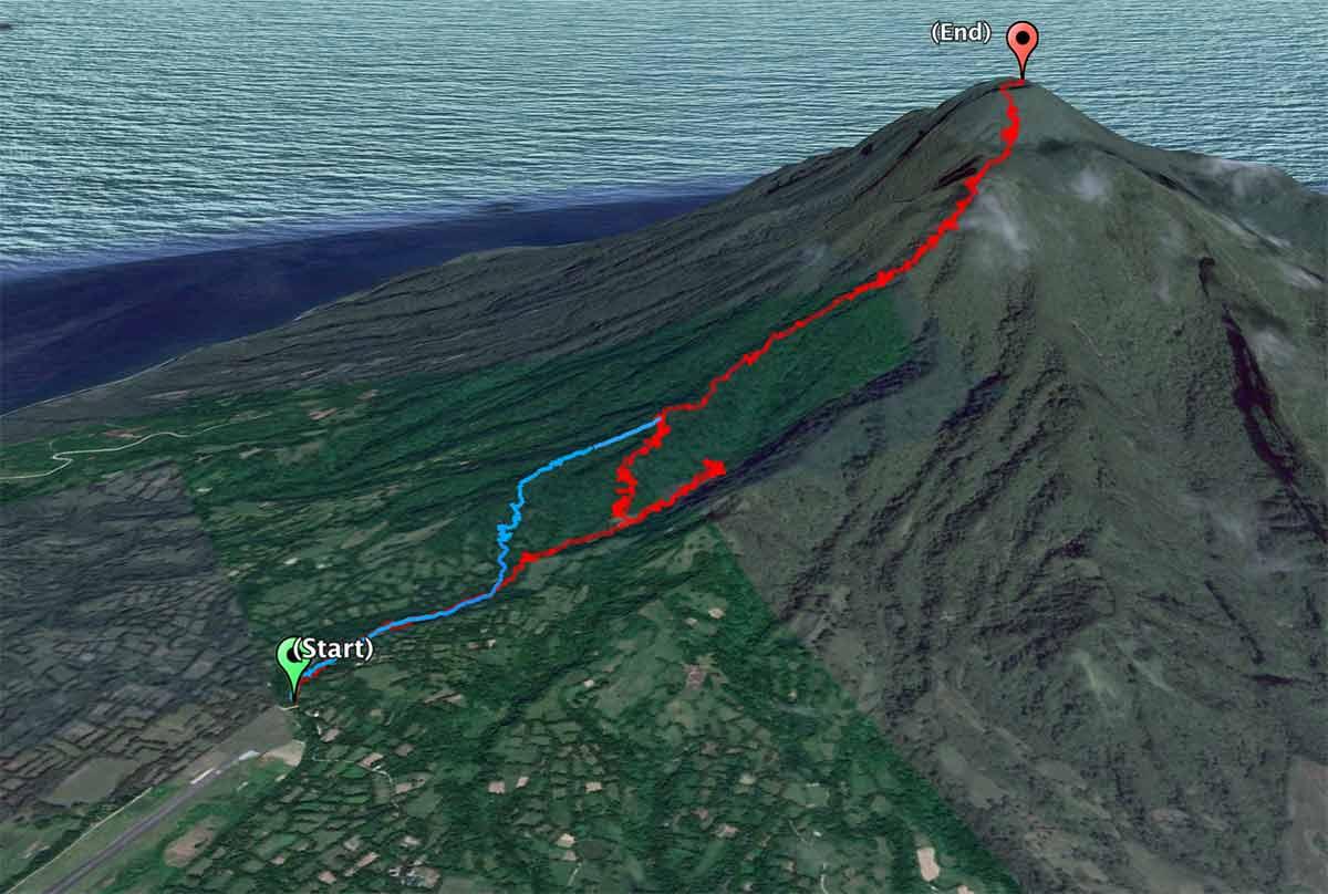 Mt Iraya - Path to Summit